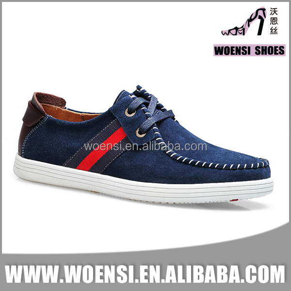 new fashion quality men navy color genuine suede leather casual shoes moccasins shoes