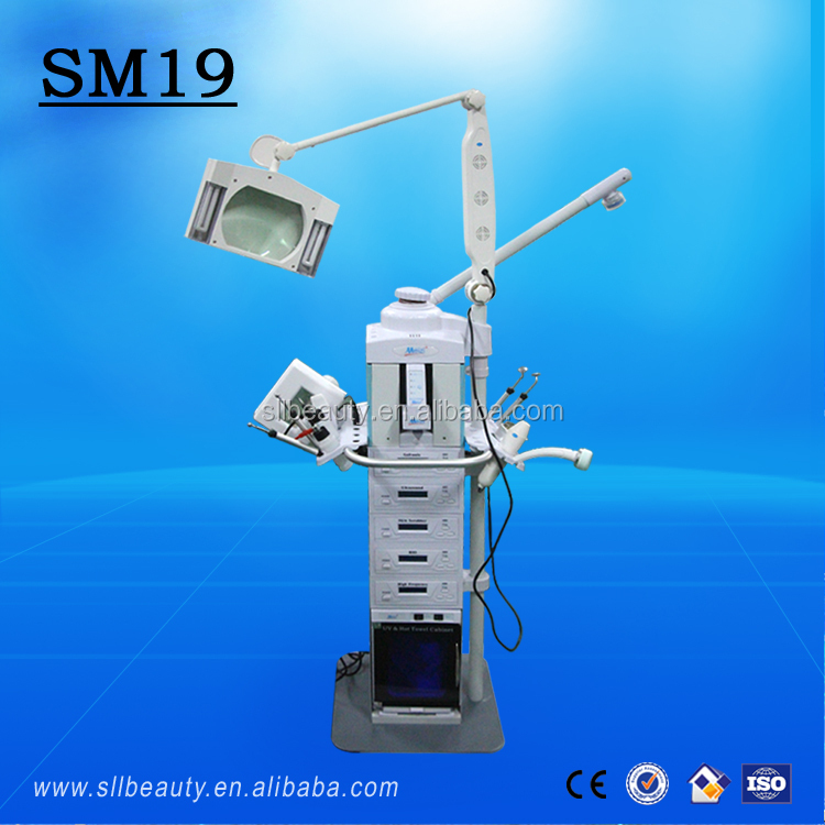 China beauty parlor instrument 19 in 1 multifunction beauty parlor