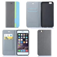 Magnet Flip Phone Cover With Card Holders Custom Mobile Phone Case For iPhone 6 Plus