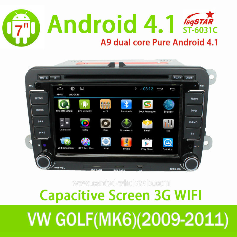 With Dual Core Cpu 1G RAM Capacitive Screen 3G internal Wifi for VW PASSAT Android 4.2.2 Car radio with gps