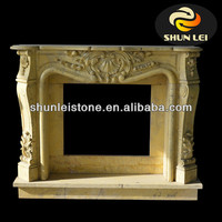 granite carved stone fireplace/bioethanol fireplace