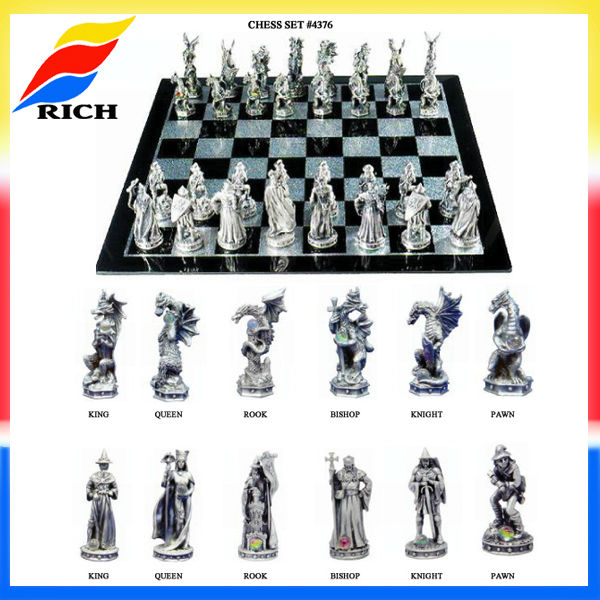 Pewter Collectible Chess