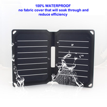 8.5w 5v waterproof beach outdoor solar charger power bank mobile phone