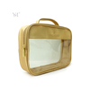 Shiny clear latest fashion 2018 customized women pvc cosmetic handle bag for traveling