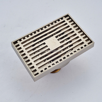 Wholesale And Retail Brushed Nickel Square Bathroom Floor Drain Floor Filler Shower Kitchen Room Grate Waste