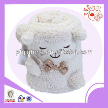 plush children animal blanket,sheep toys blanket