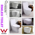 Australian WATERMARK & WELS certified Two Piece Toilet, Back to Wall Toilet, Wall Hung Toilet