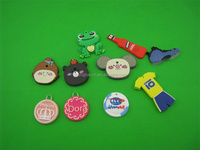 Promotional cheap custom plastic PVC Key chains