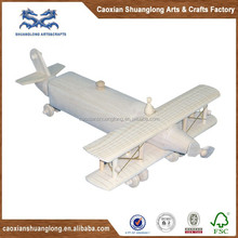 wooden model airplane toy