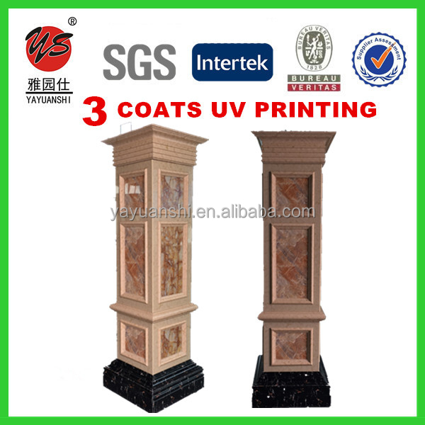 pvc materials uv coated imitation marble pvc board for pillars