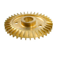 5 axis CNC machining high precision small water pump brass impeller