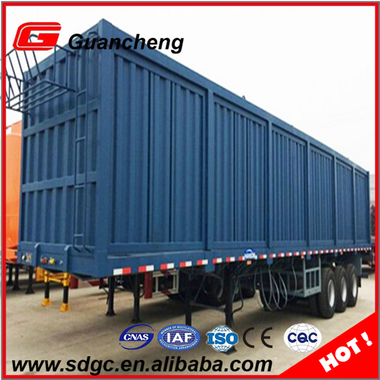 Low price 3 doors cargo truck cargo box semi trailer gearbox for concrete mixer