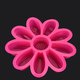 rose shape food grade silicone soap candle chocolate jelly cake mold