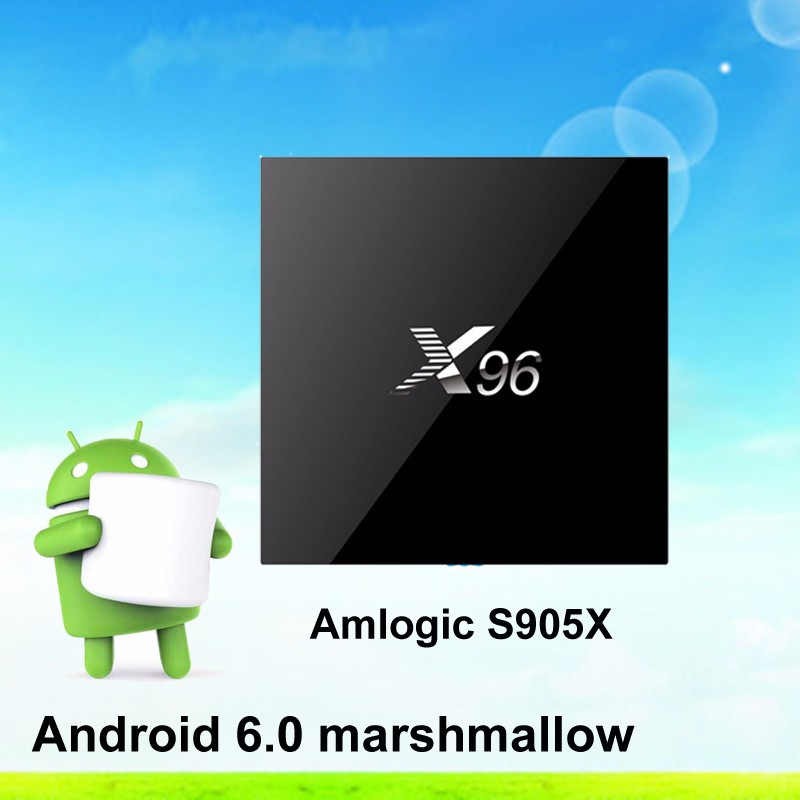 2016 Latest! Android 6.0 Marshmallow Android TV Box Amlogic S905X Quad Core TV Box X96