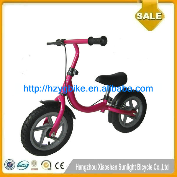 CE NO Pedals Colourful Inflatable Tire Red Children Bike Bicycle