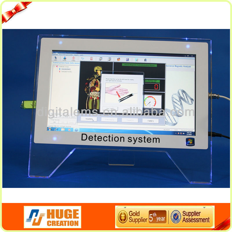 Touch screen quantum resonance magnetic analyzer, can use as a computer, 9 kinds languages optional, with 42 reports in English
