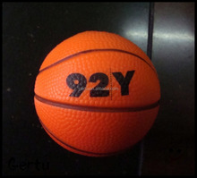 custom printed basketball anti stress ball