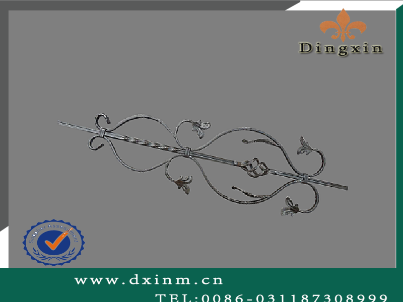 wrought iron stair handrail /Classical outdoor wrought iron stair handrail