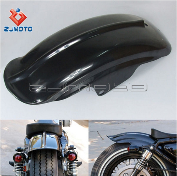 Black Rear Mudguard Fender For Sportster Solo Bobber Chopper Cafe