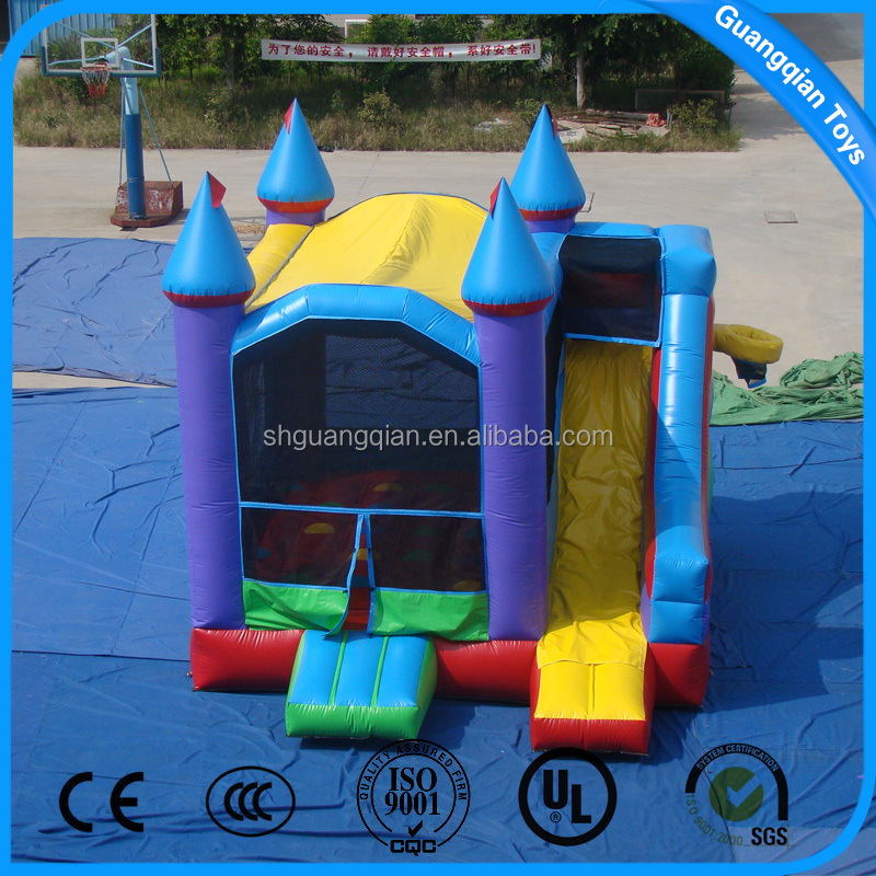 Guangqian Hot Commercial Inflatable Jumping House Bouncer With Slide