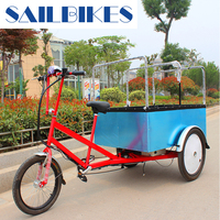 Electric flatbed 3 wheel tricycle for cargo