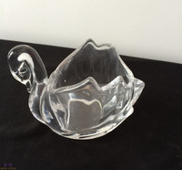 Swan glass votive holder/candle stand