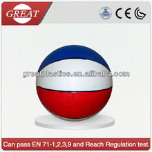 PVC inflatable Basket Ball Material and Ball Type custom printed
