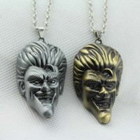Fashion Trendy Batman series The Dark Knight Villain Joker head Metal Pendant necklace KN-114