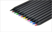 high quality black wood advertising gift HB lead colored pencil