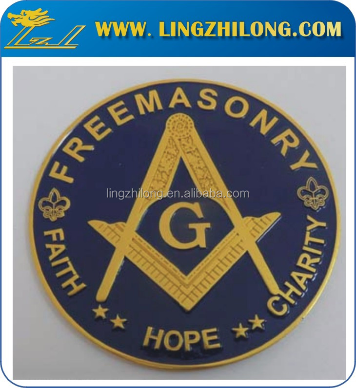 Custom Metal Masonic Led Car Emblem