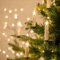 Christmas Tree LED Wax Dripping Taper Candles With Removable Clip And Remote Control
