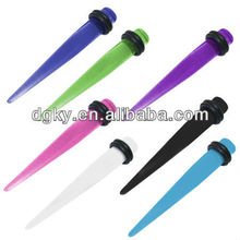 UV Acrylic Fake Ear Taper Spike Design Stretcher Ear Piercing Taper