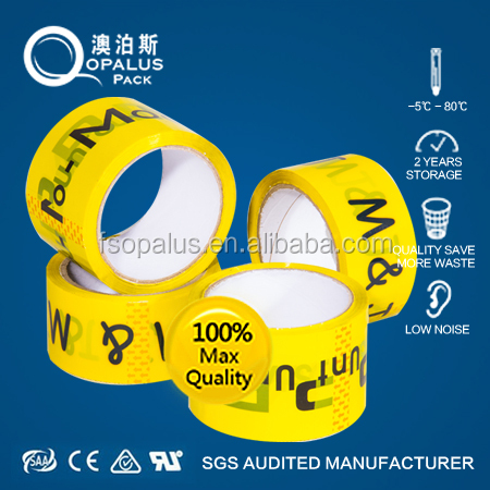 professional manufacturer printed packing tape with white bottom color and blue logo
