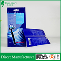 Custom print back sealed disposable razors packing bag with hanging hole
