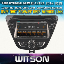 WITSON FOR HYUNDAI NEW ELANTRA 2014 2015 CAR DVD PLAYER WITH GPS WITH 1080P CAPACITIVE SCREEN WIFI 3G DVR TPMS MIRROR LINK
