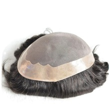 Toupee human hair for black men hair piece Afro