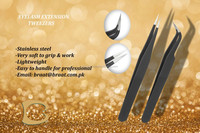 Black Colour Straight and Curved Eyelash Extension Pointed Tip Tweezers ESD 15 ESD 12 Tweezers for Eyelash Extension