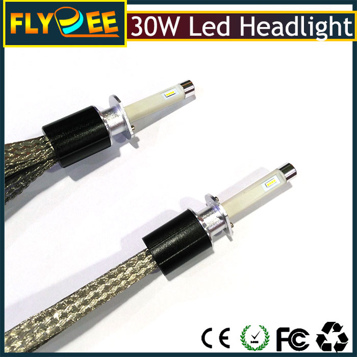 high power 60W 7200 lumen automatic lighting bulb R4 purple cooper belt Car LED headlamp headlight kit 880 881 H7 H1 led