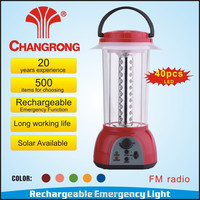 rechargeable battery for led lantern emergency light with fm radio