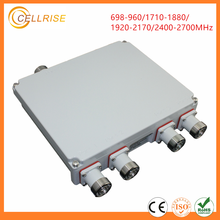 Low PIM High Power IP67 Quad Band Combiner GSM DCS WCDMA LTE 698-2700MHz