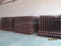 2016 the high quality powder painted corrugated steel picket fence