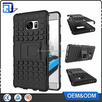 Low Price China Mobile Phone TPU + PC Hard Back Cover Hybrid Case For Samsung Galaxy Note 7 Armor Kickstand Case