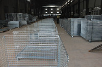 Stacking Wire Mesh Storage Crate for Warehouse