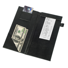 Professional leather menu bills folder for restaurant and retail