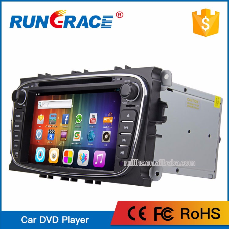 Hot Sale RUNGRACE dab multimedia android car dvd navigation for ford mondeo