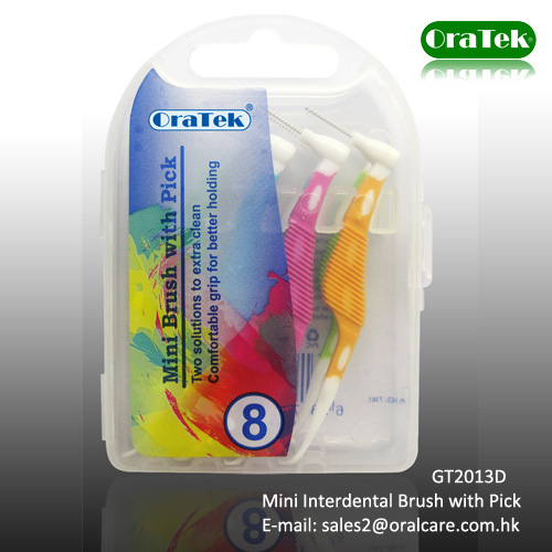 Mini Interdental Brush with Toothpick