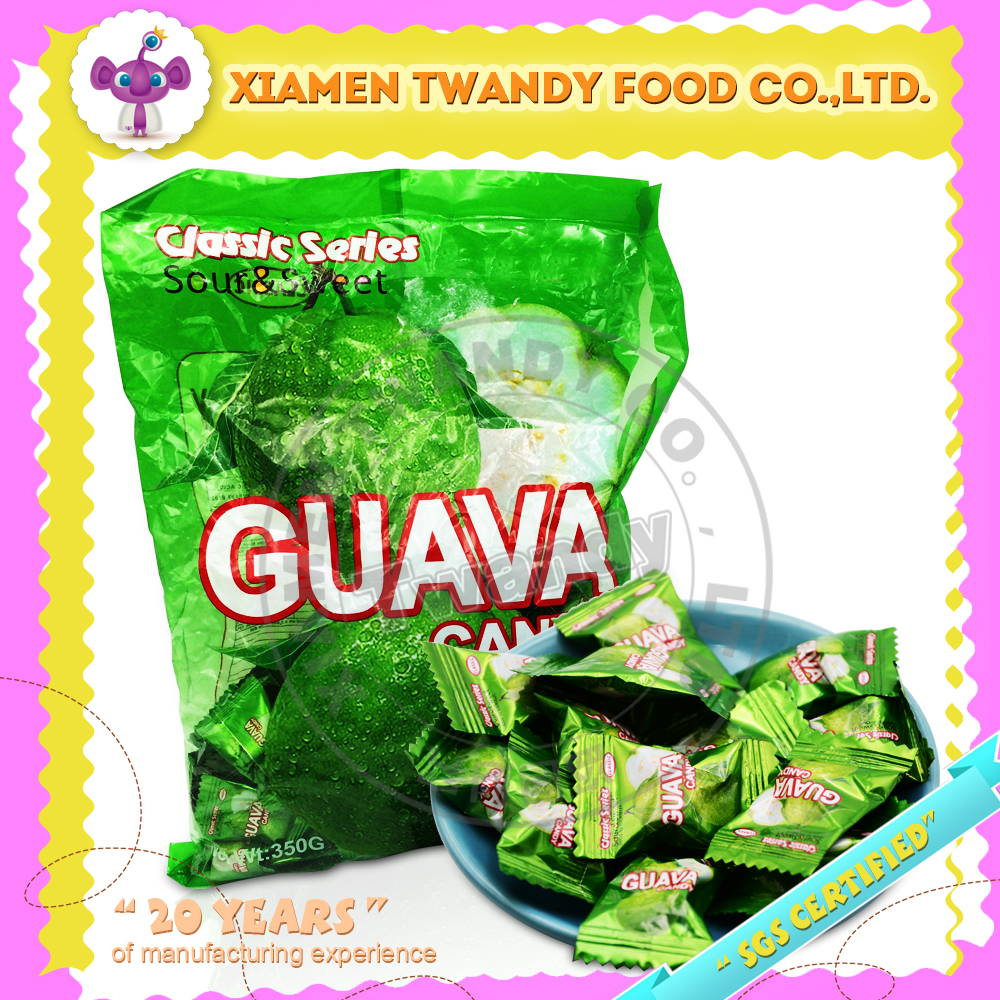 Sweet guava flavor fruity hard candy