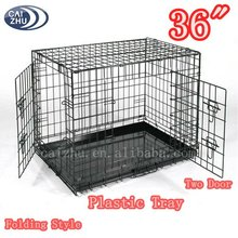 2016 High quality 2 door wire aluminum breeding dog cage for wholesale
