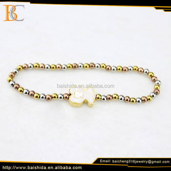 China factory gold and rose gold bracelet custom new gold bracelet models for women