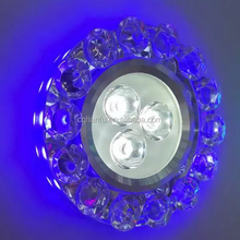 new design 60mm recessed 220V 3W crystal led downlights
